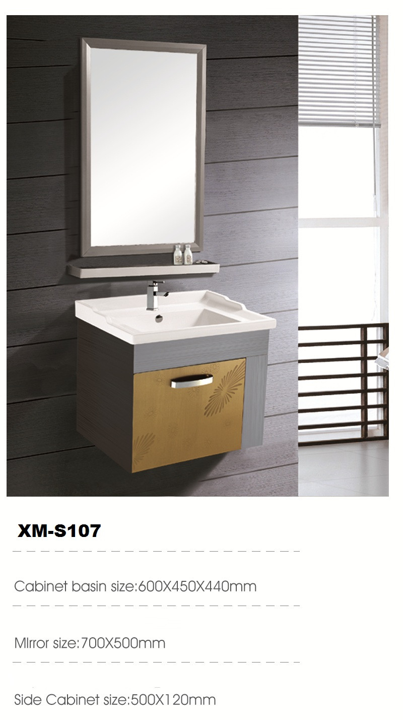 XM-S107 China products 304 stainless steel bathroom vanity cabinet ...